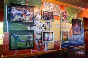 "Applebee's Bellevue ""Our Teams"" wall"