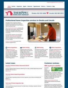 AmeriSpec Omaha and Lincoln website after makeover