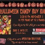 Flyer for Halloween Candy Buy Back