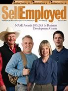 Theresa Cassiday on the cover of Self-Employed magazine