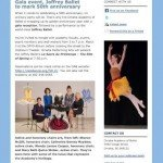 Catena Creations stories for Omaha Academy of Ballet newsletter