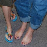Matching pedicures