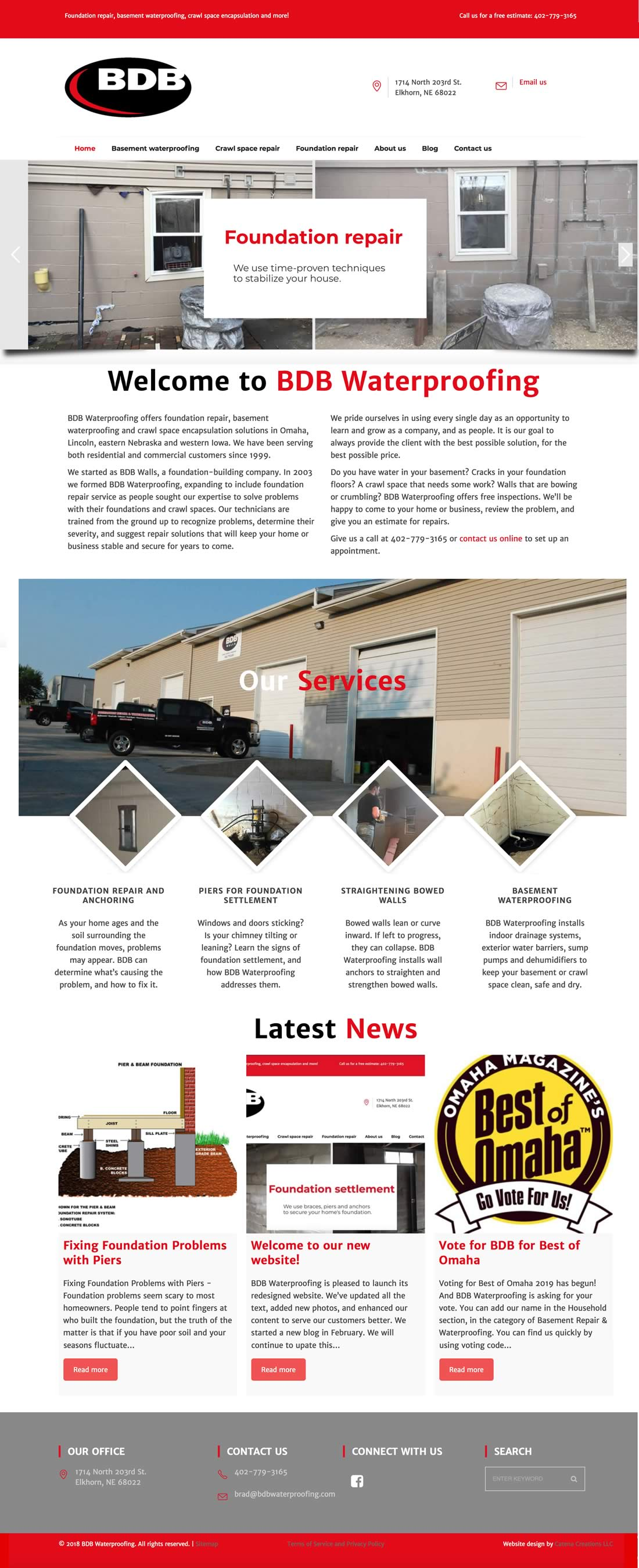 BDB Waterproofing website redesign by Catena Creations