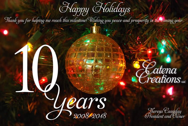 Happy holidays 2018 from Catena Creations