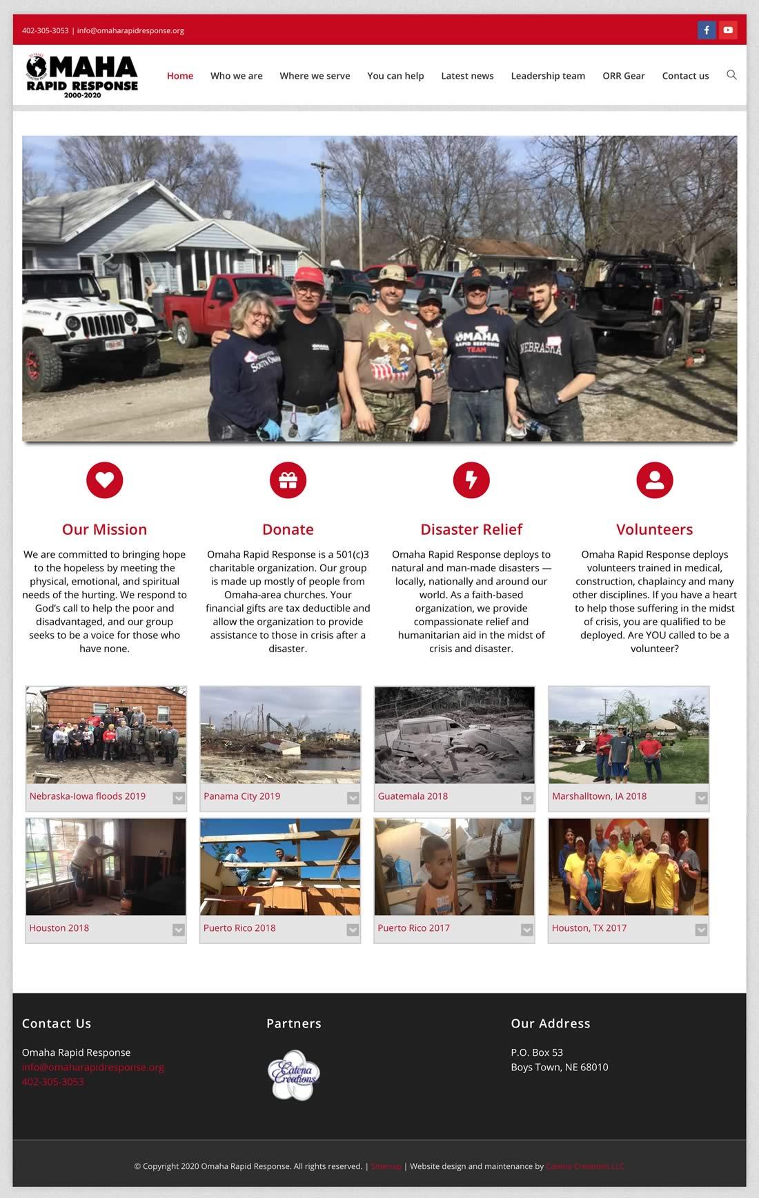 Omaha Rapid Response website redesign 2020